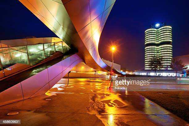 bmw world in munich - bmw stock pictures, royalty-free photos & images