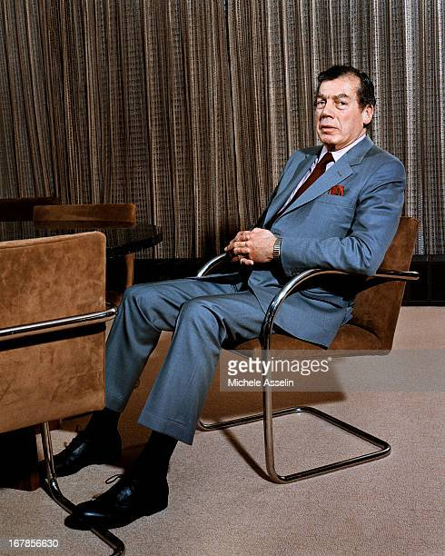 World Jewish Congress President Edgar Bronfman Sr is photographed at a portrait shoot on October 25 2002 in New York City
