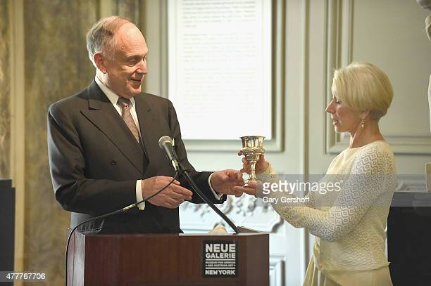 World Jewish Congress President Ronald Lauder and actress Helen Mirren attend Helen Mirren Honored By The World Jewish Congress For Her Role In Woman...