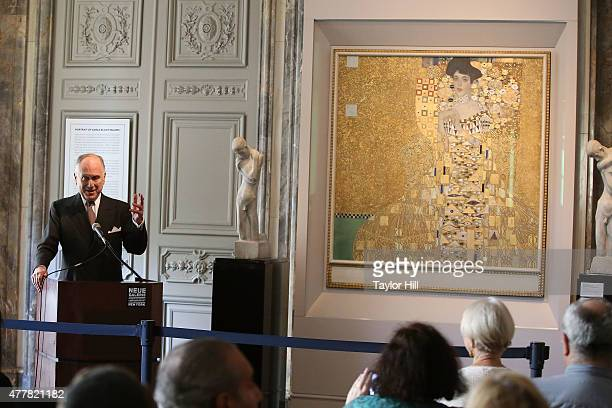 World Jewish Congress President Ronald Lauder speaks at Neue Galerie on June 19 2015 in New York City