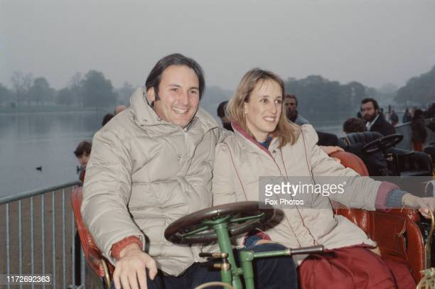 World land speed record holder Richard Noble with his wife, 1983.
