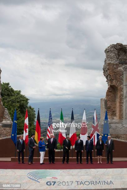 World leaders european president commisioner Donald Tusk canadian Prime Minister Justine Trudeau German Chancellor Angela MerkelUS President Donald...