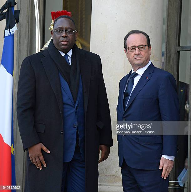 World leaders gather at the Elysée Palace to meet with President Francois Hollande before the march at Place Republique in solidarity with the...