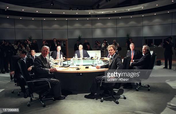 G8 world leaders including German Chancellor Helmut Kohl French president Jacques Chirac US President Bill Clinton Russian President Boris Yelstin...