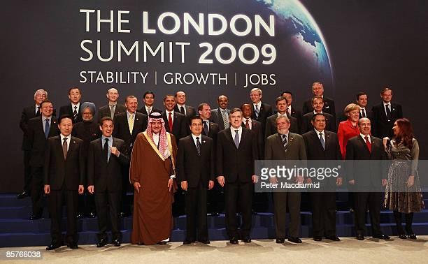 World Leaders including U.S. President Barack Obama, British Prime Minister Gordon Brown, Australian Prime Minister Kevin Rudd, French President...