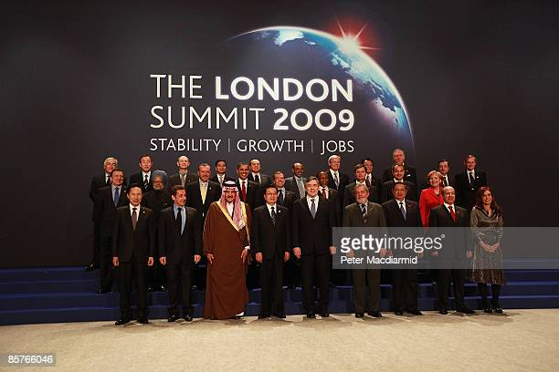 World Leaders including U.S. President Barack Obama, British Prime Minister Gordon Brown, Australian Prime Minister Kevin Rudd, French President...