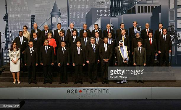 World leaders pose for a group photo during the G8 summit June 27, 2010 in Toronto, Ontario, Canada. The leaders in attendance include U.S. President...