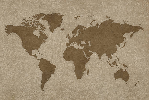 World Map And Compass Wall Art