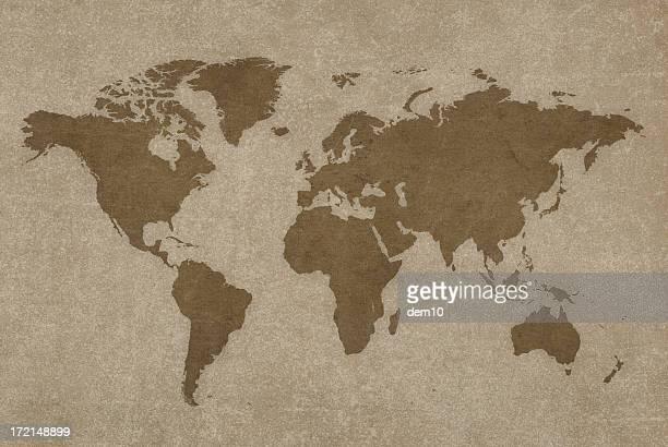 Monde carte et Boussole