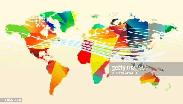 world map data - global village stock pictures, royalty-free photos & images