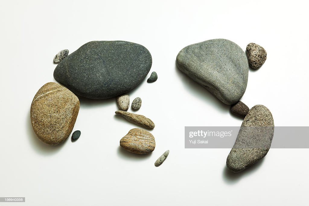 world map formed by stone : Stock Photo