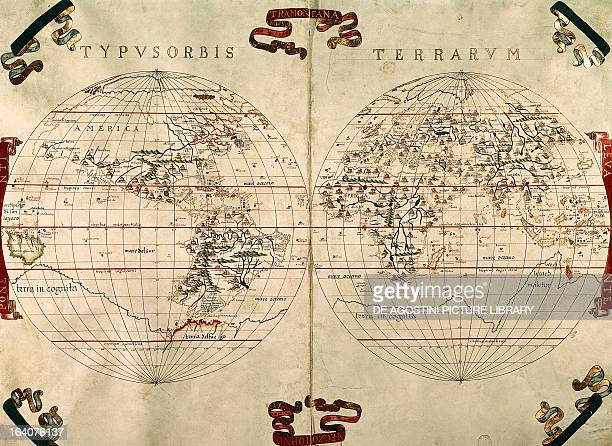 World Map from an atlas produced by the Mallorcan cartographer Joan Martines 1587