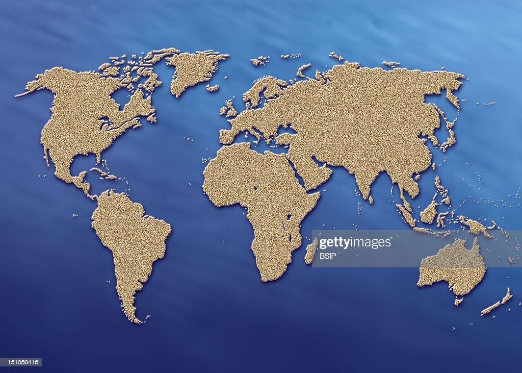 World Map : News Photo