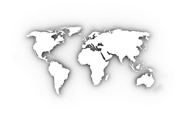 Free world black white images pictures and royalty free stock world map in white including a clipping path gumiabroncs Choice Image