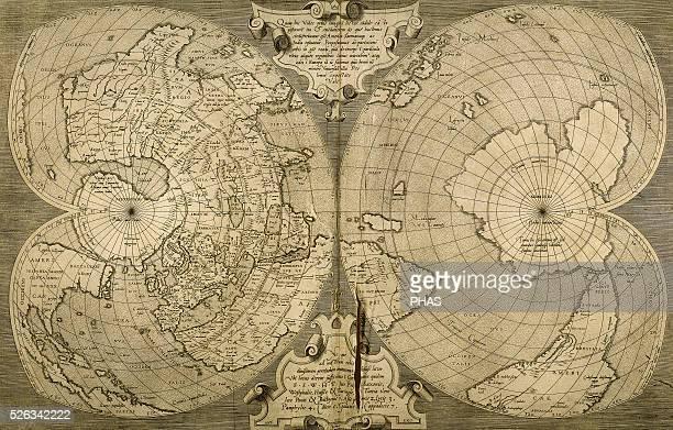 World map Italian engraving 16th century