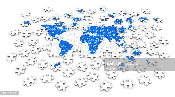 世界地図ジグソー