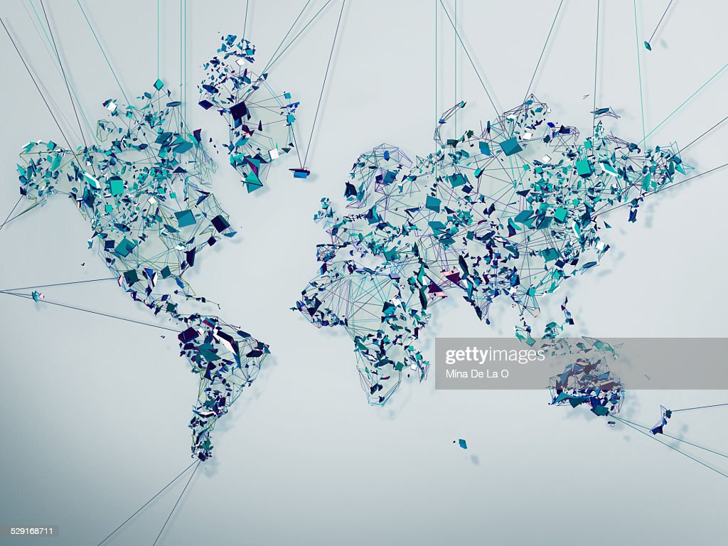 World map stock photos and pictures getty images world map lines gumiabroncs Choice Image