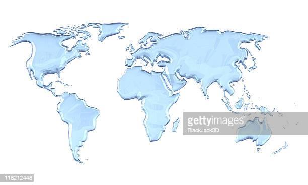 世界地図の雨滴