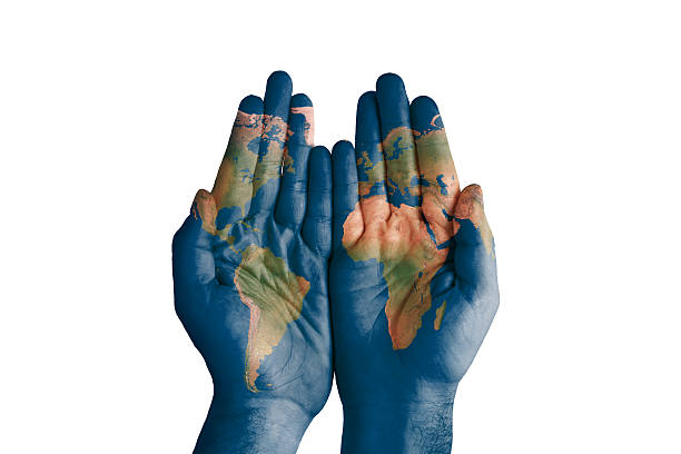 Free world map hand images pictures and royalty free stock photos world map painted on hands gumiabroncs Image collections