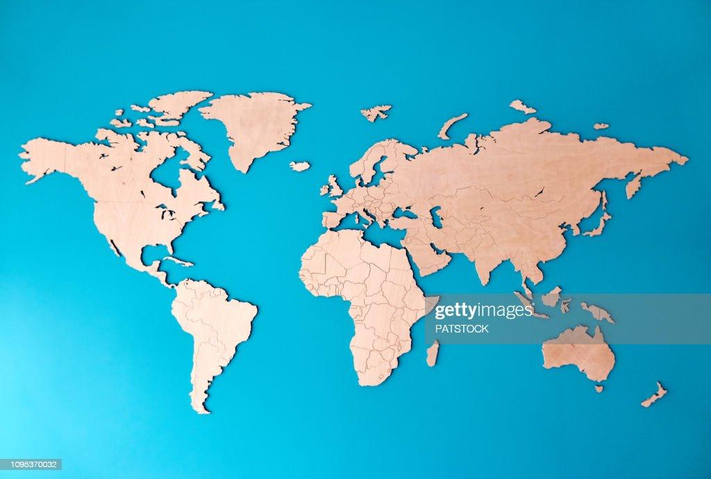 World map : Foto de stock