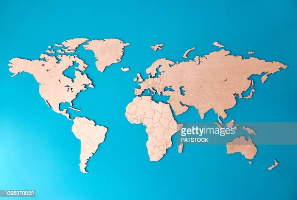 world map - südamerika stock-fotos und bilder