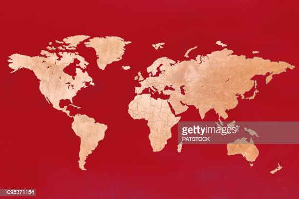 world map - europa kontinent stock-fotos und bilder