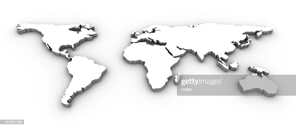 3D World Map : Stock Photo