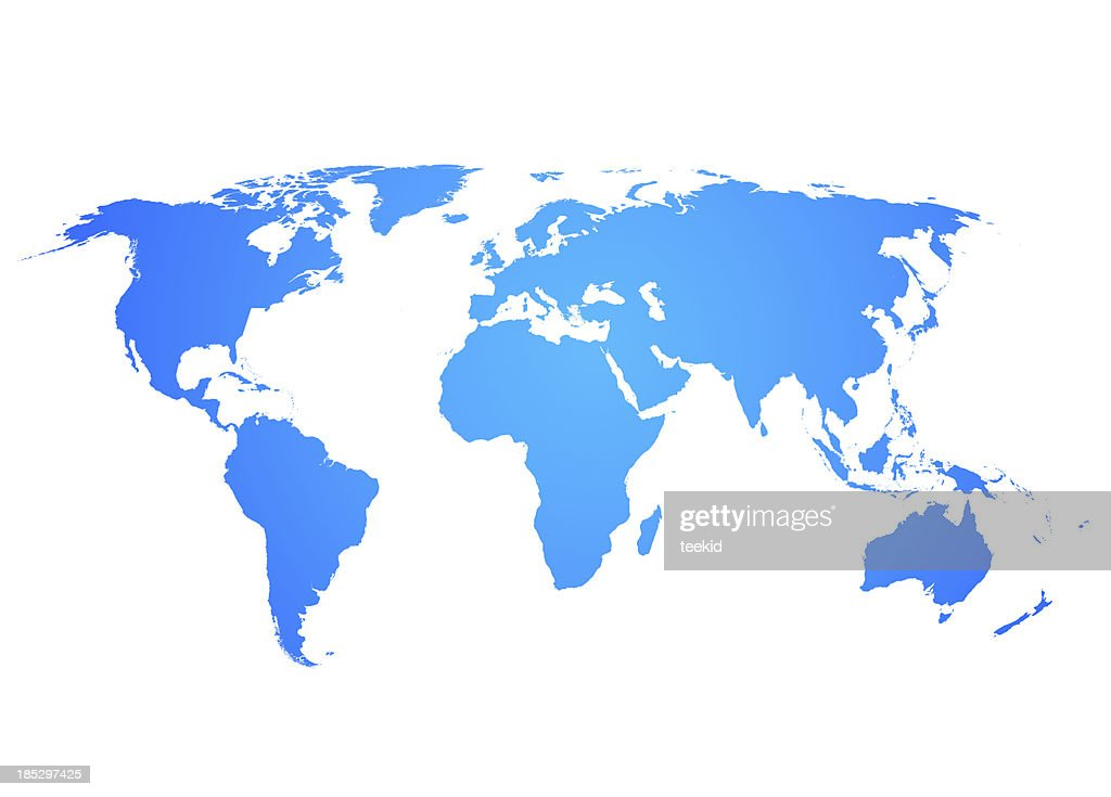 World map stock photo getty images world map stock photo gumiabroncs Images