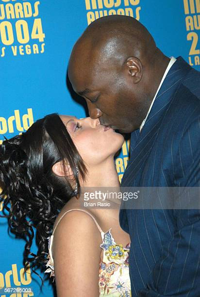 World Music Awards Las Vegas America 15 Sep 2004 Irene Marquez And Michael Clarke Duncan