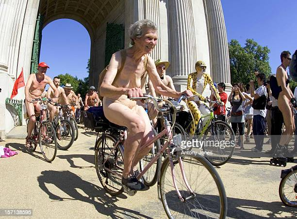 World Naked Bike Ride In Hyde Park On The Streets Of London In Over 40 Cities Worldwide People Will Be Riding Bikes Naked To Celebrate Cycling The...