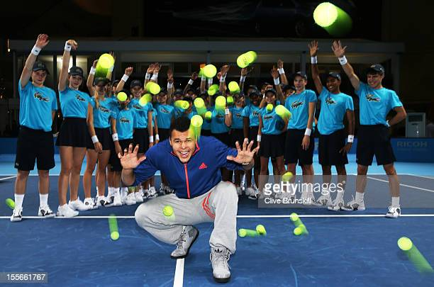 World Number 8 Jo Wilfried Tsonga kicked off the launch of the 2013 Barclays Ball Kids programme today at the Barclays ATP World Tour Finals at the...