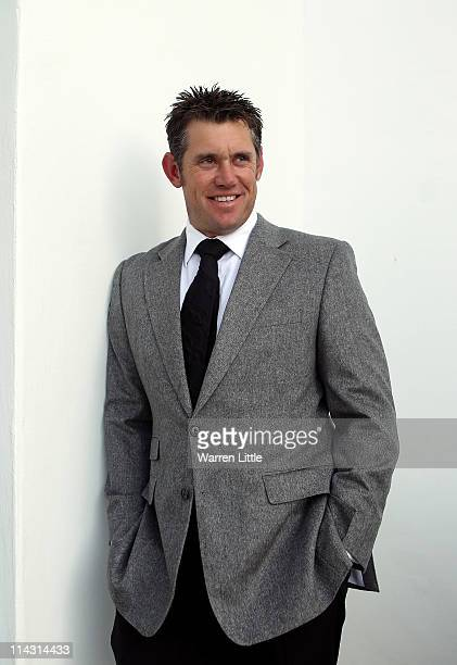 World number one Lee Westwood of England poses for a picture ahead of the welcome dinner for the Volvo World Match Play Championship at Finca...