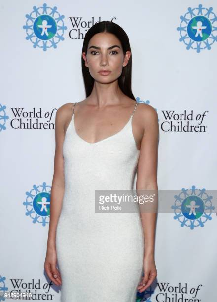 World of Children Ambassador Lily Aldridge Followill attends the 2018 World of Children Hero Awards Benefit at Montage Beverly Hills on April 19 2018...