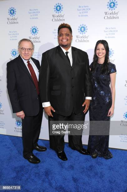 World of Children CoFounder Event CoChair Harry Leibowitz and performers Schuyler Johnson and Jenna Gold attend World of Children Awards 2017 at 583...