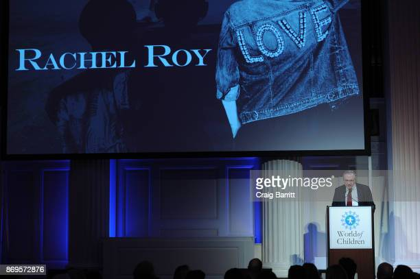 World of Children CoFounder Event CoChair Harry Leibowitz speaks on stage during World of Children Awards 2017 at 583 Park Avenue on November 2 2017...