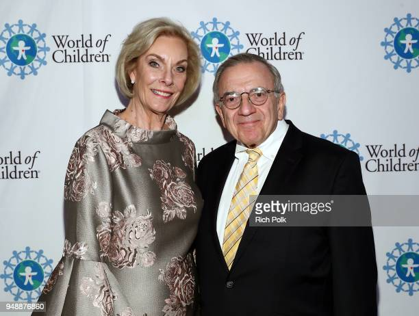 World of Children Founders Kay Isaacsonleibowitz and Harry Leibowitz attend the 2018 World of Children Hero Awards Benefit at Montage Beverly Hills...