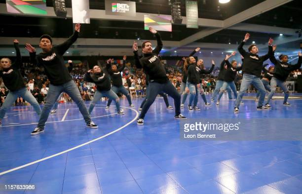 World of Dance dancers perform at the BETX Celebrity Basketball Game Sponsored By Sprite during the BET Experience at Los Angeles Convention Center...