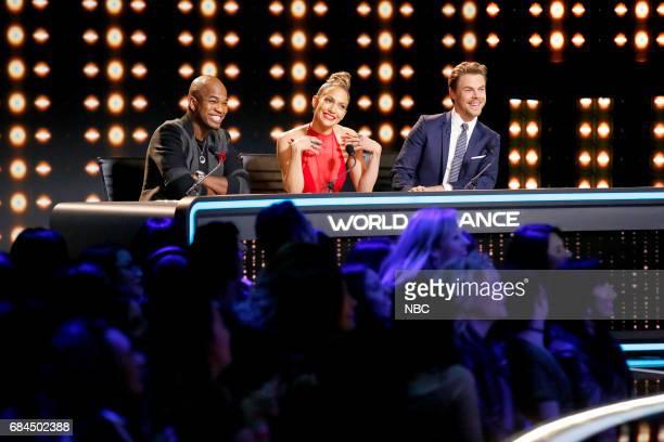 DANCE World of Dance Pictured NEYO Jennifer Lopez Derek Hough