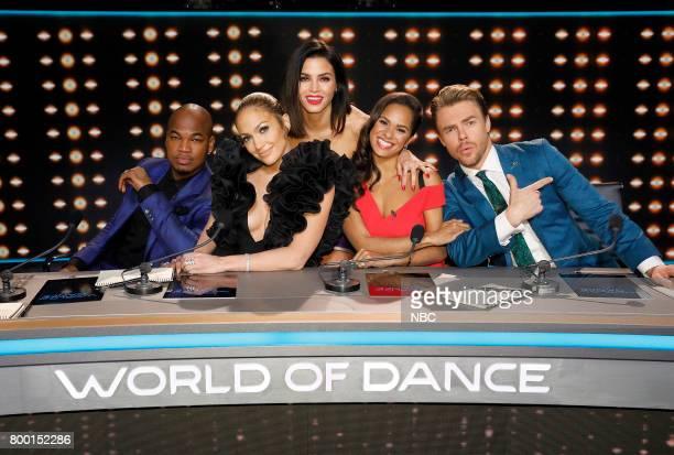 DANCE World of Dance Pictured NEYO Jennifer Lopez Jenna Dewan Tatum Misty Copeland Derek Hough