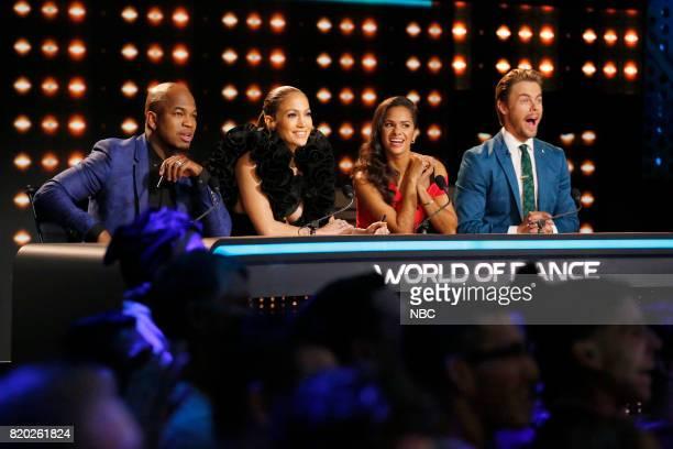 DANCE World of Dance Pictured NEYO Jennifer Lopez Misty Copeland Derek Hough