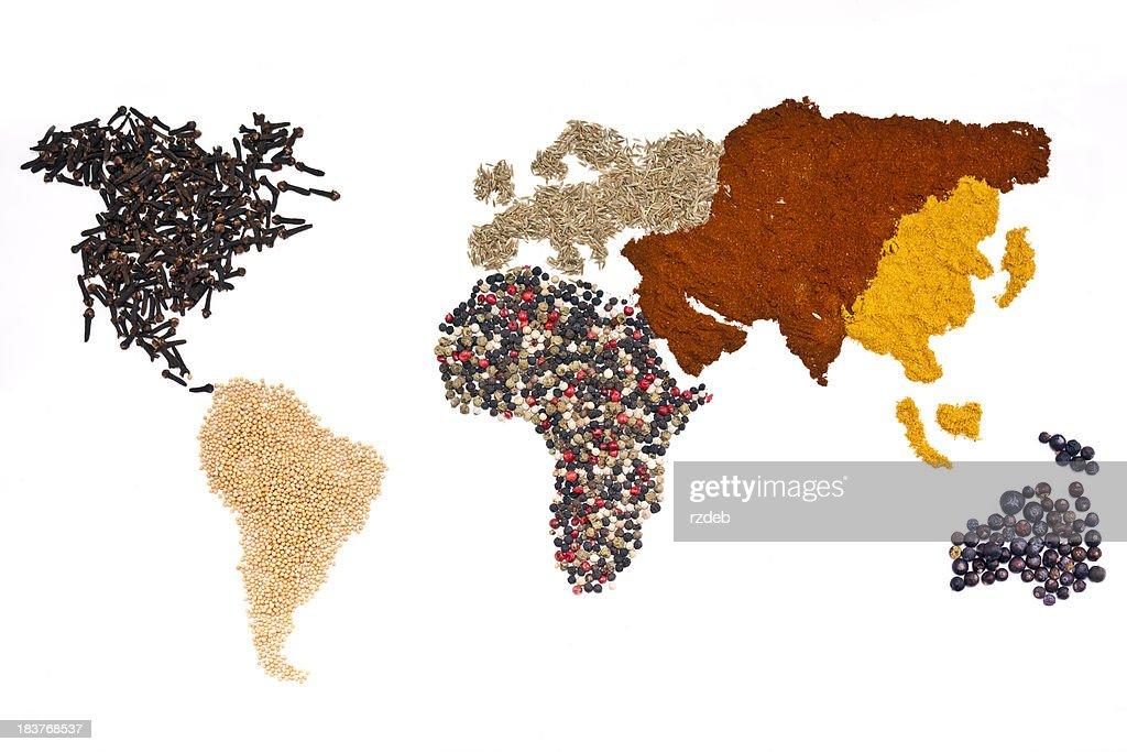Mundo de las especias : Foto de stock
