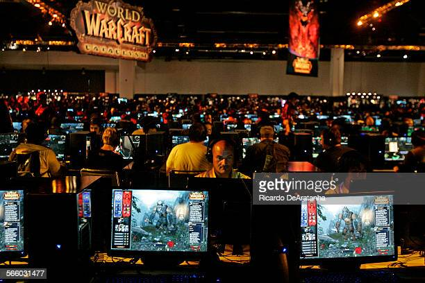 World of Warcraft game area at BlizzCon at the Anaheim Convention Center, August 21, 2009. BlizzCon is an annual convention for over 15,000 players...