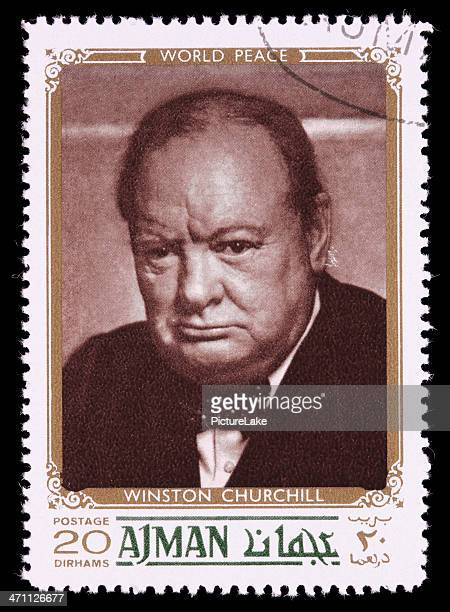 world peace winston churchill postage stamp - winston churchill stock photos and pictures