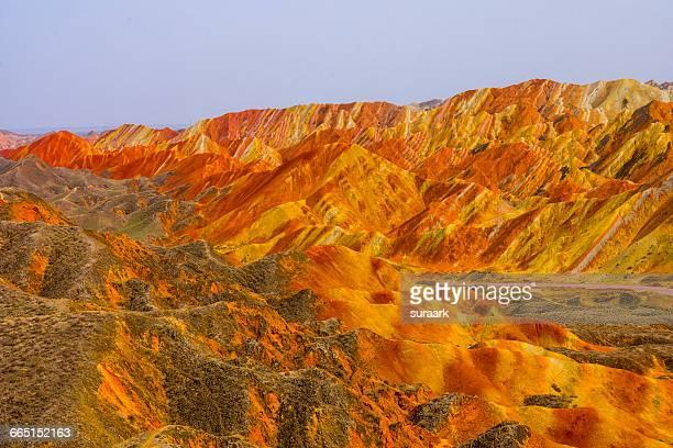 world photo day! - 甘粛張掖国家地質公園 ストックフォトと画像