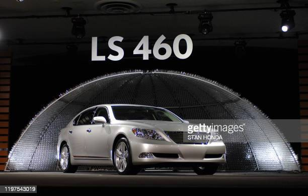 World premeire of the Lexus LS 460 sedan seen on display 08 January 2006 during the press days at the North American International Auto Show in Cobo...