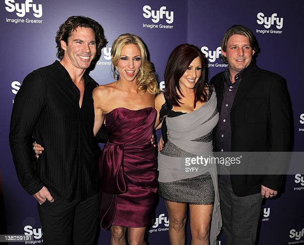 VS GATOROID World Premiere at the Ziegfeld Theater on Monday January 24 2011 PIctured Dr Rutledge Taylor Debbie Gibson Tiffany and Guest