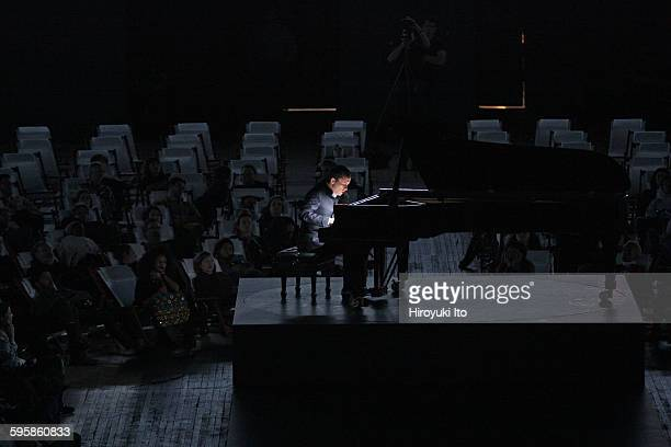 World premiere of 'Goldberg' at Park Avenue Armory on Saturday night December 5 2015Igor Levit Marina Abramovic and Urs Schonebaum