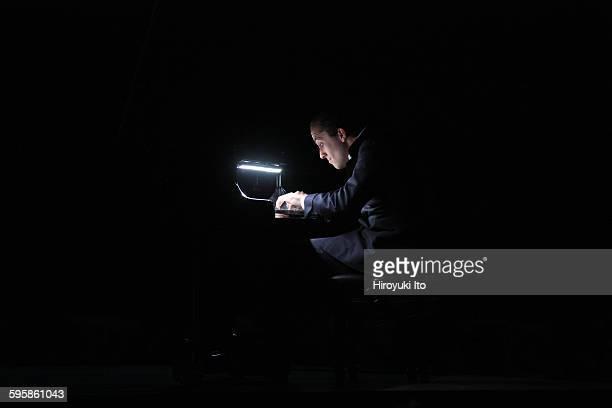 World premiere of Goldberg at Park Avenue Armory on Saturday night December 5 2015Igor Levit Marina Abramovic and Urs Schonebaum