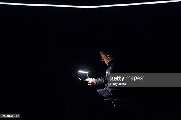 World premiere of Goldberg at Park Avenue Armory on Saturday night December 5 2015Igor Levit Marina Abramovic and Urs Schonebaum