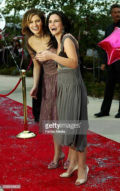 World Premiere of Hating Alison Ashley in Richmond tonight. Pictured is star of the movie Deltra Goodrem arriving with co star Saskia Burmeister....
